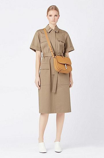 女士时尚休闲单肩斜挎包,  240_淡棕色
