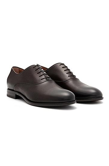男士商务休闲系带皮鞋,  209_暗棕色
