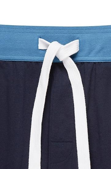 男款拼接色系带家居服休闲裤,  403_暗蓝色