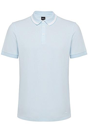 男款商务休闲标准款棉质短袖Polo衫,  100_白色