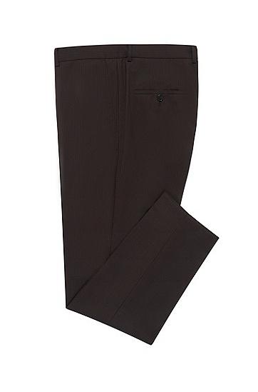 男士修身直筒西装裤,  006_黑色