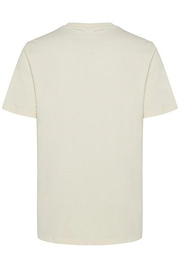 男士印花短袖T恤,  270_浅米色