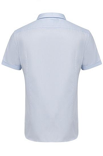 男款商务休闲短袖衬衫,  450_浅蓝色