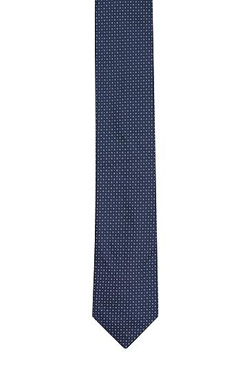 男士商务休闲碎花格纹领带,  405_暗蓝色