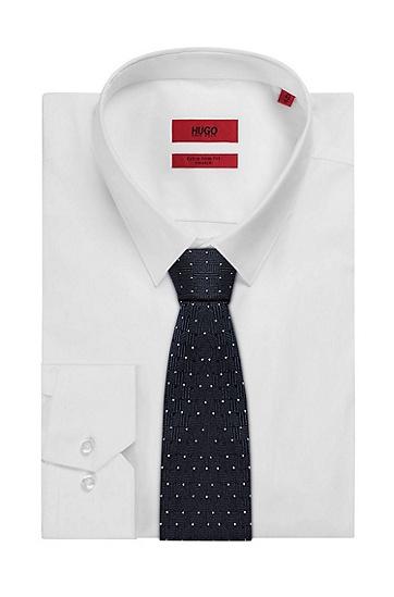 男士商务休闲波点格纹领带,  402_暗蓝色