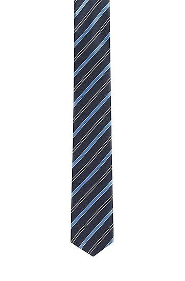 男士条纹印花领带,  453_浅蓝色