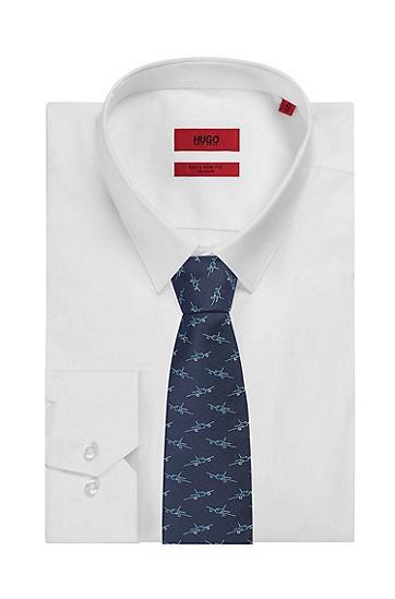 男士时尚印花领带,  452_浅蓝色