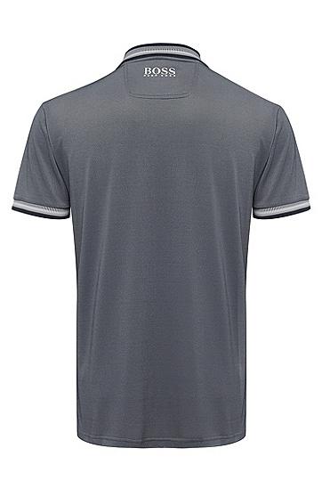 男款印花撞色拼接短袖Polo衫,  410_海军蓝色