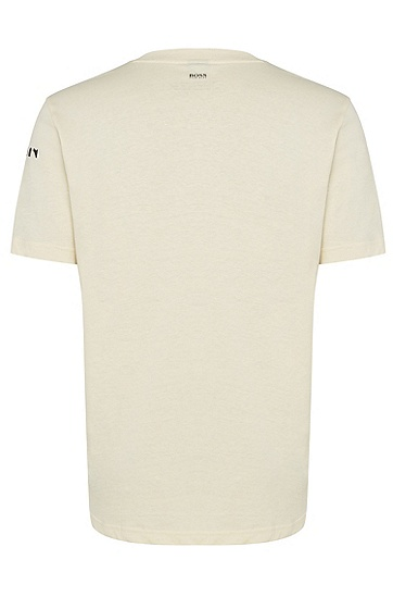 男士棉质时尚短袖T恤,  270_浅米色