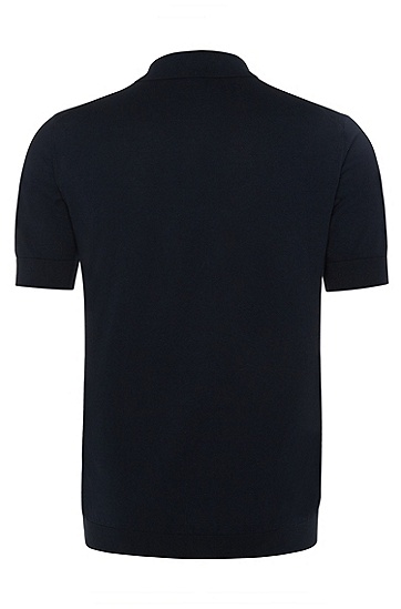 男士商务休闲常规版棉质polo衫,  402_暗蓝色