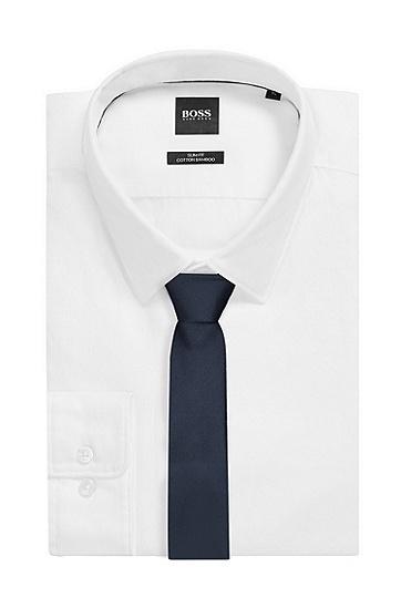 男士深蓝色商务休闲棉质领带,  401_暗蓝色