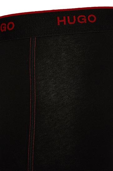Boxer en coton stretch: «Boxer SC 2P HM» , Noir