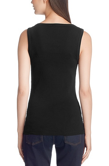 Cotton tank top 'Dalal', Black