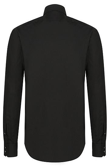 Chemise Regular Fit en coton facile à repasser: «Enzo», Noir