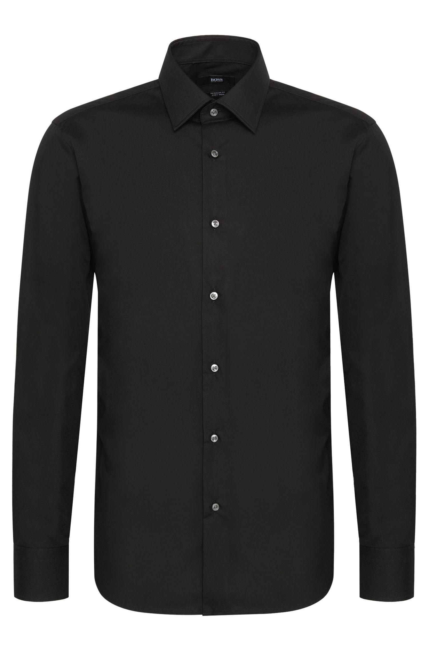 Regular-fit overhemd van gemakkelijk te strijken katoen: 'Enzo'