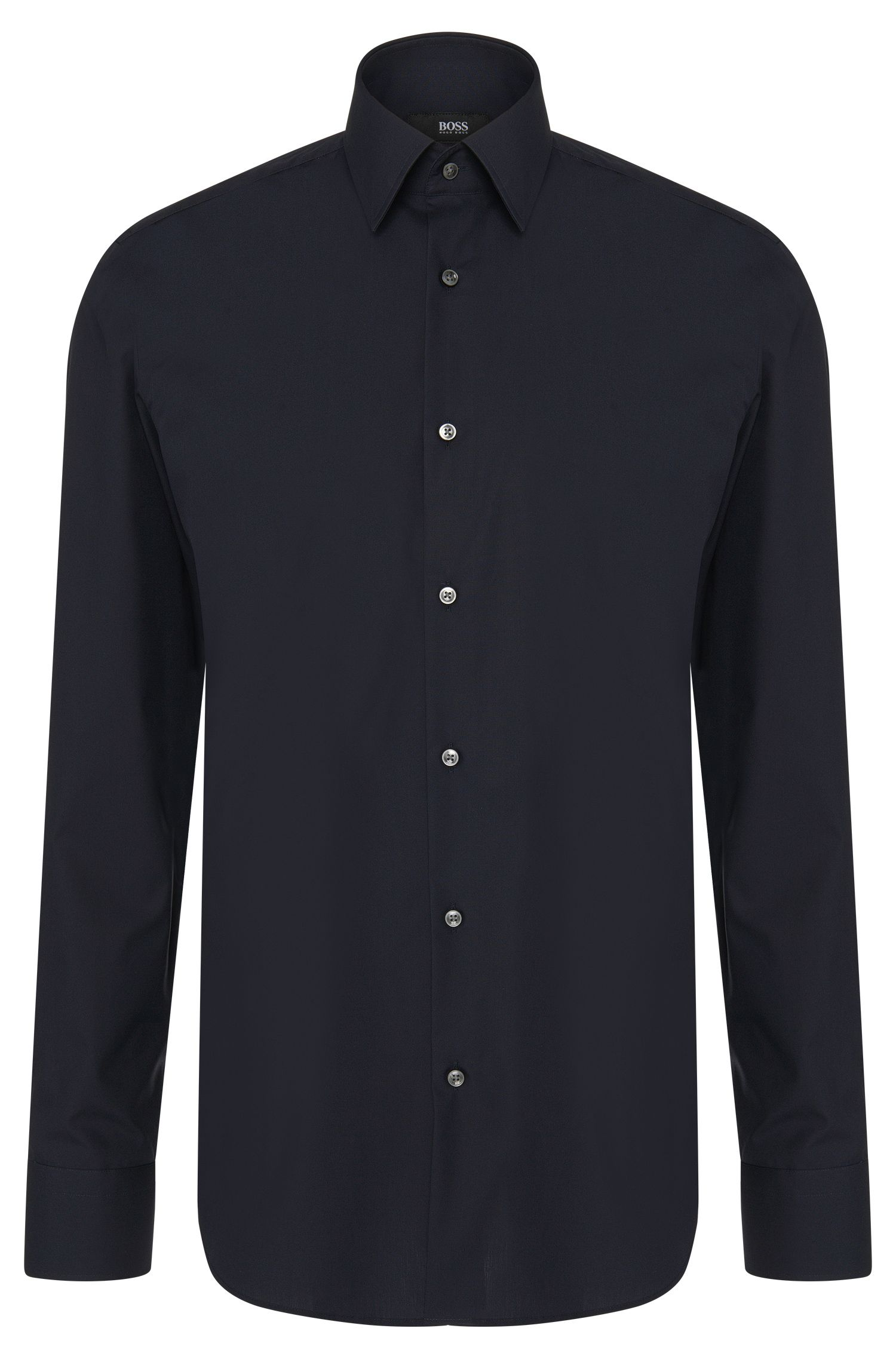 Regular-fit shirt in easy-iron cotton: 'Enzo'