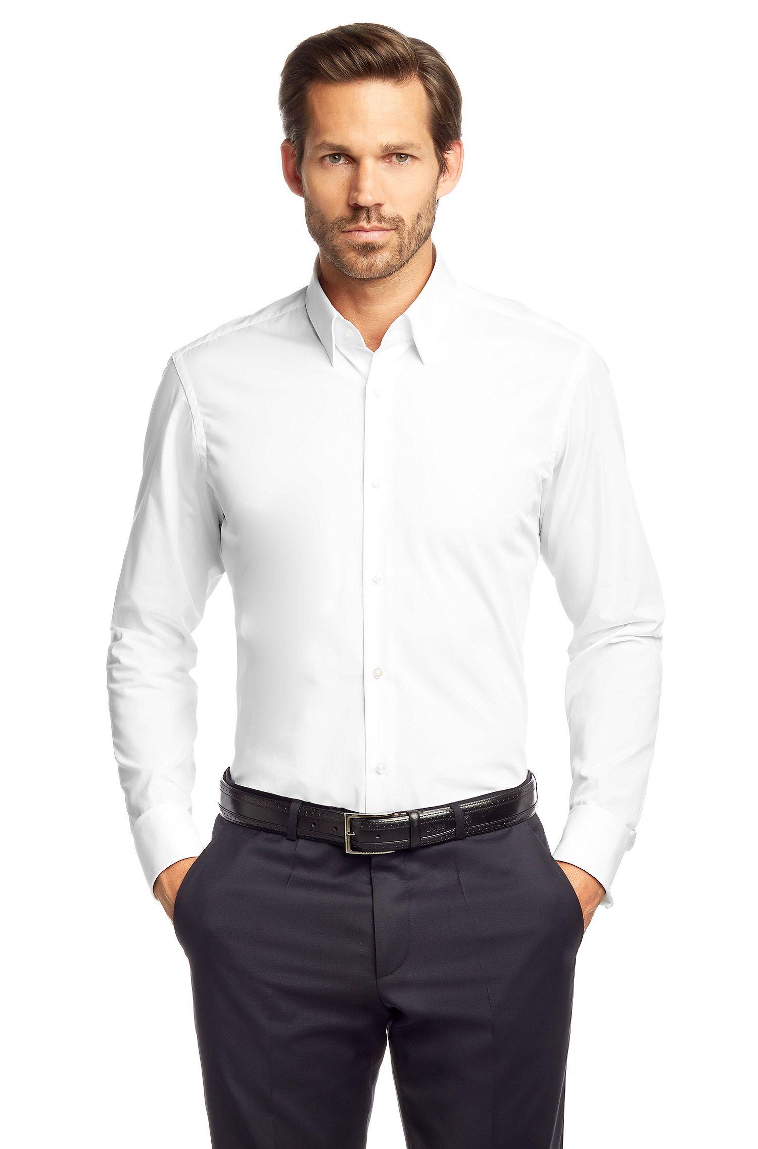 Chemise à poignets mousquetaires «Lawrence», facile à repasser