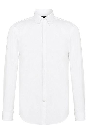 Slim-Fit Smokinghemd aus Baumwolle: 'Ilias', Weiß