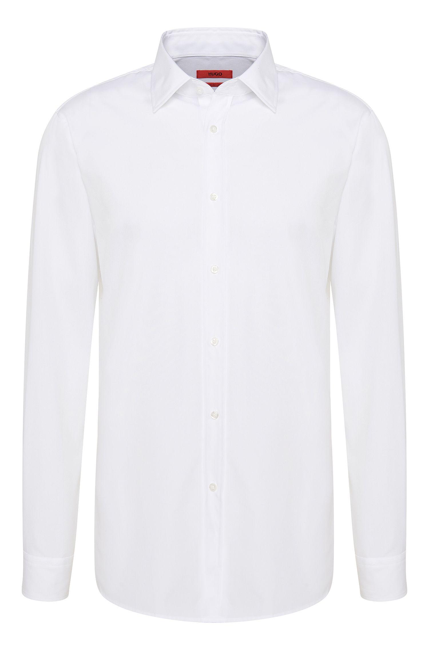 Camicia slim fit in cotone stiro facile: 'Emil'