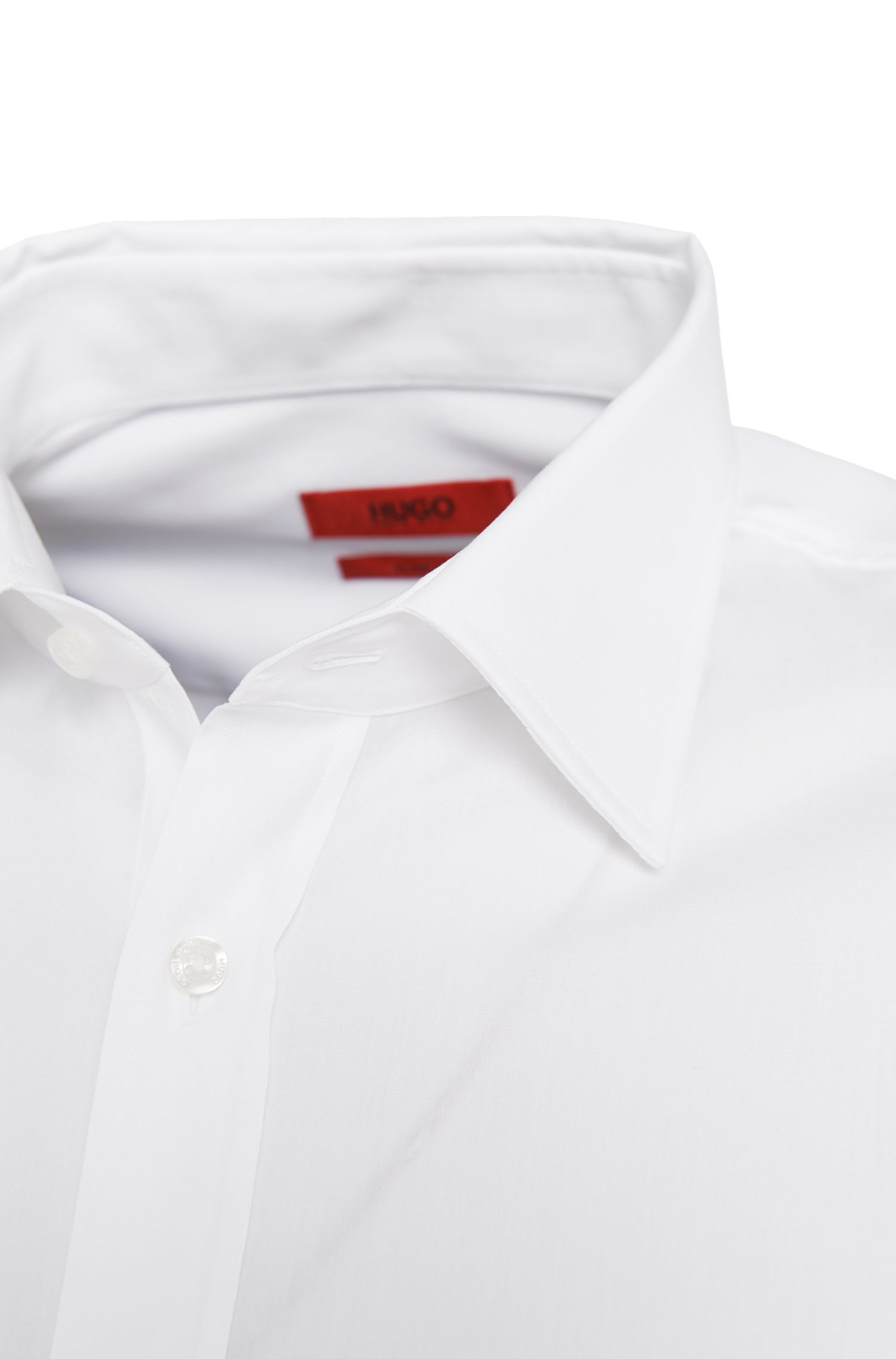 Slim-fit overhemd van gemakkelijk te strijken katoen: 'Emil'