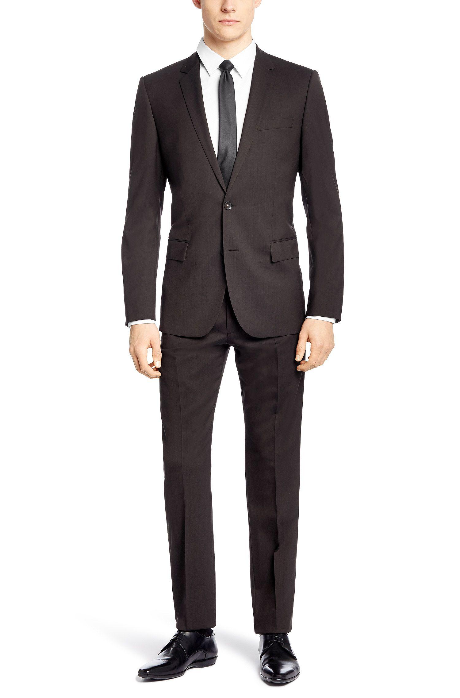 Slim-Fit Anzug aus Schurwoll-Mix:  'Amaro/Heise'