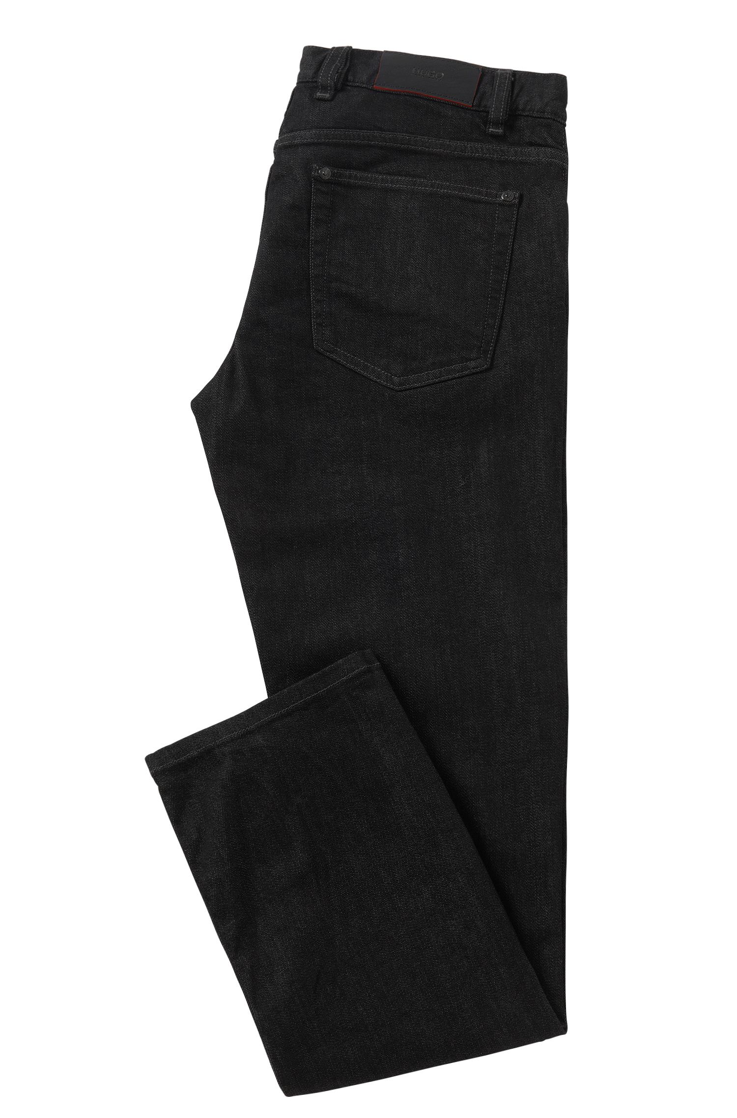Regular-Fit Jeans aus Stretch-Baumwolle: 'HUGO 677/38'