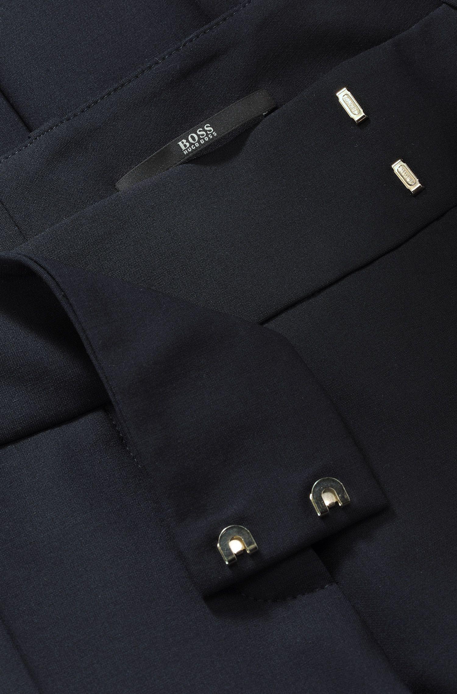 Pantalon Slim Fit «Taru5» en laine vierge mélangée