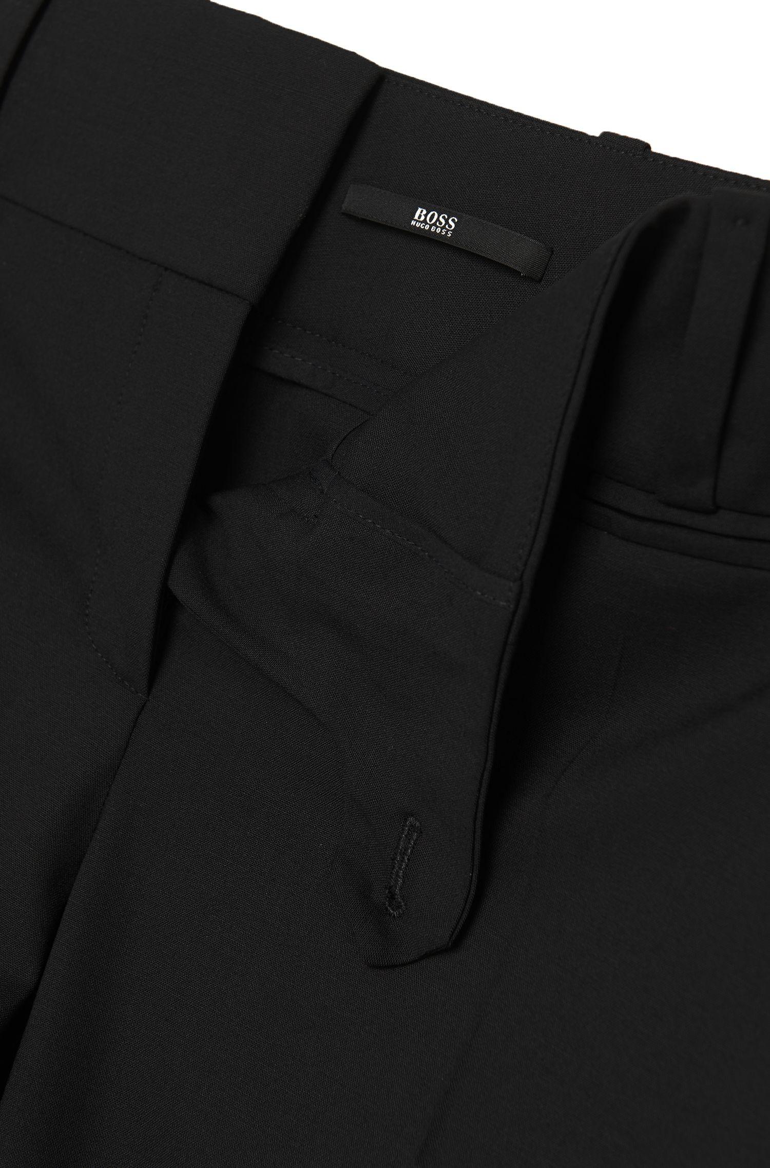 Pantalon Regular Fit «Tuliana2»en laine vierge mélangée