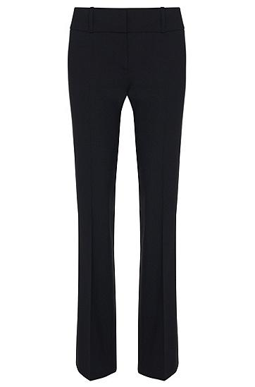 Regular-Fit Hose aus Stretch-Schurwolle: 'Tuliana2', Dunkelblau
