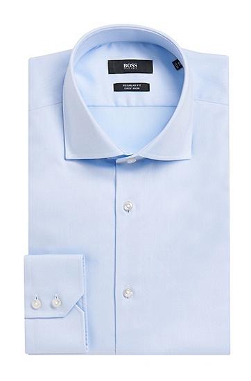 常规版棉质商务衬衫,  450_浅蓝色