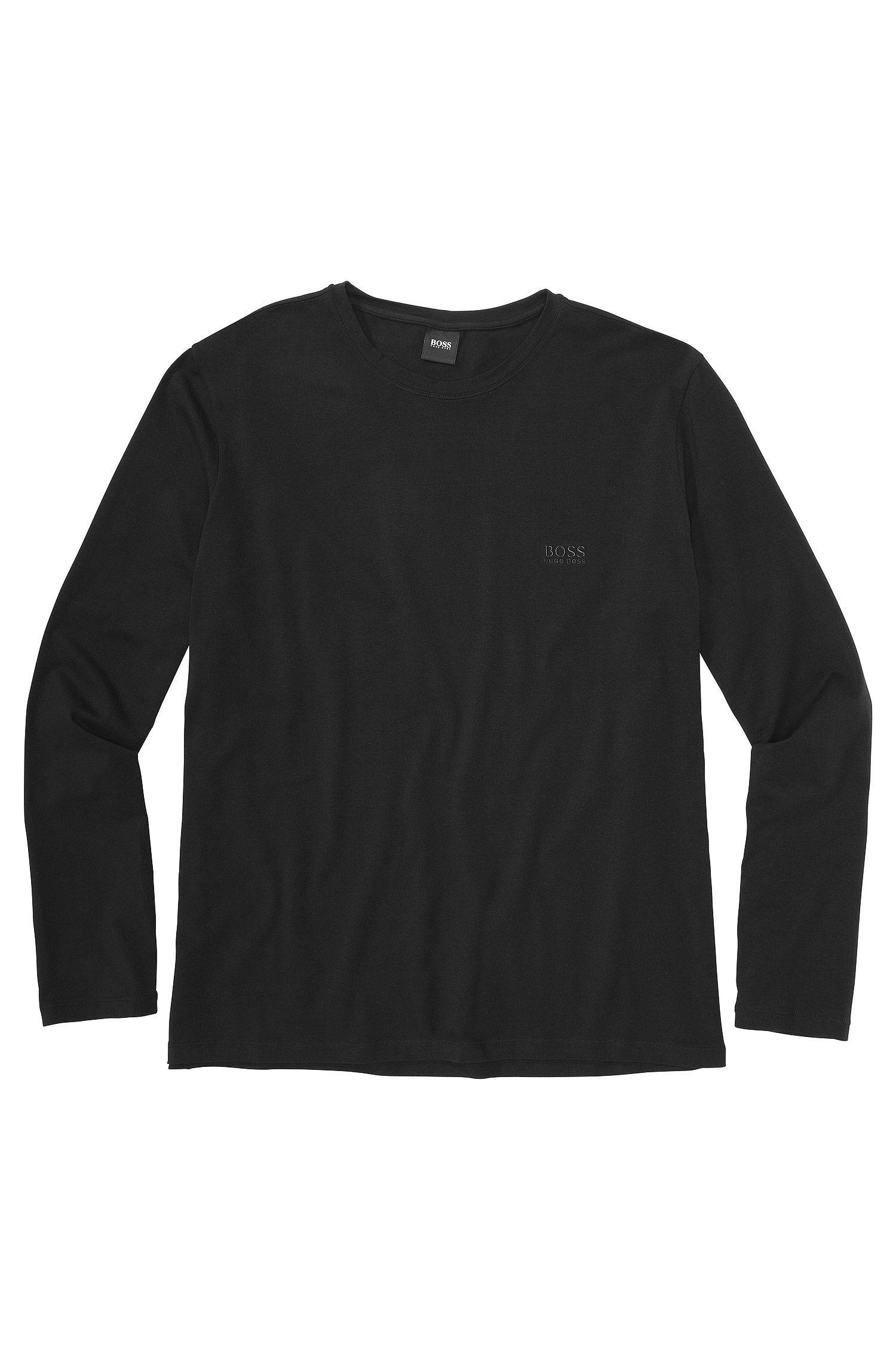 T-shirt à manches longues «Shirt RN LS BM» en coton mélangé