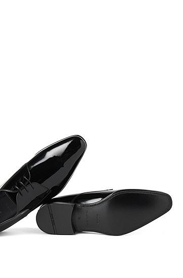 Schnürschuhe aus Leder: 'CRISTALLO', Schwarz
