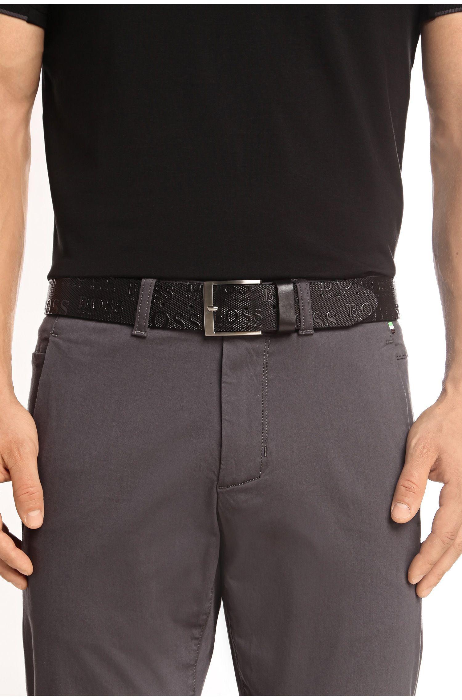 Gürtel aus Leder mit Logo-Prägungen:´TORIALO`