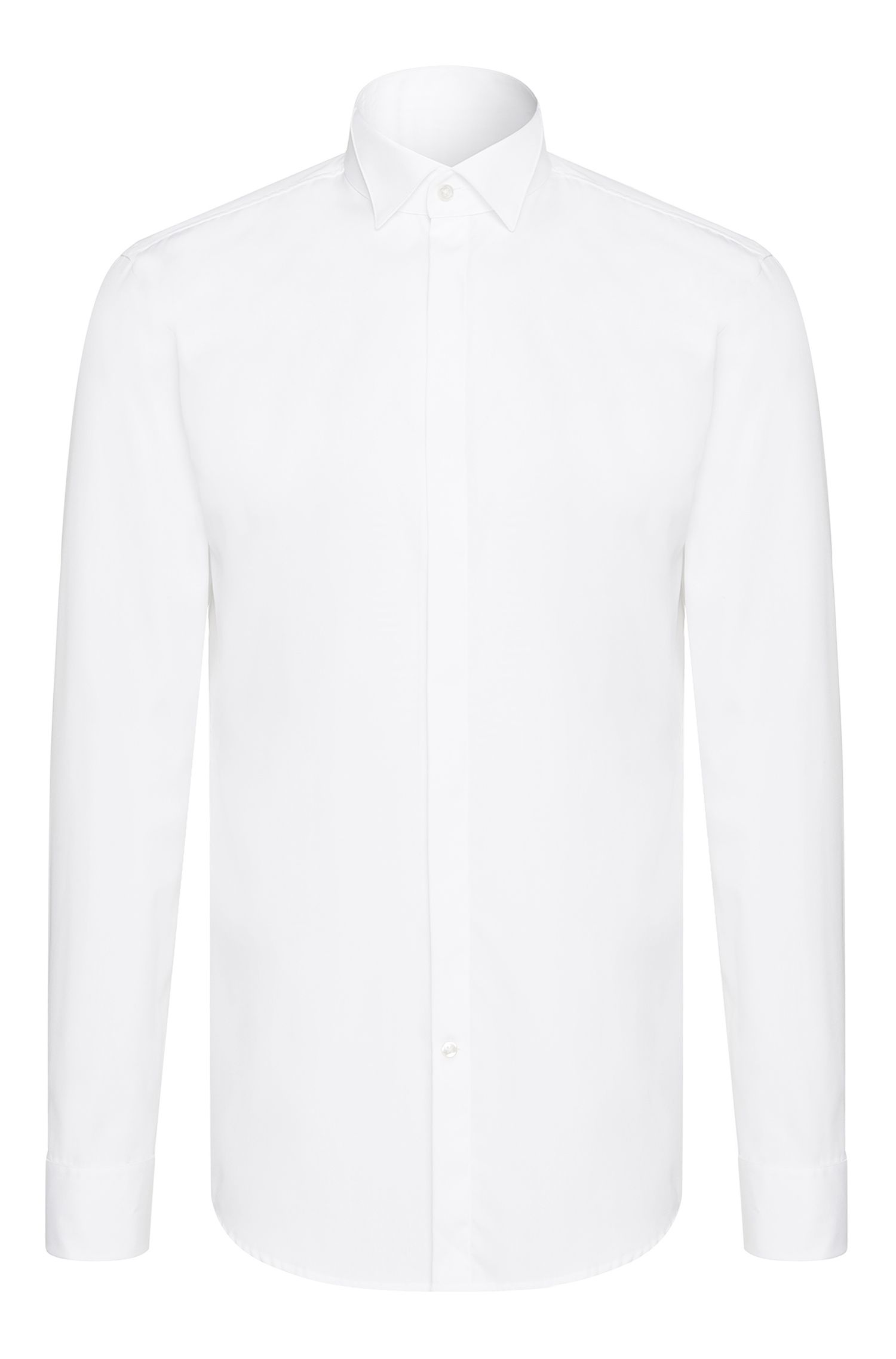 Chemise de smoking Slim Fit en coton : « Illik »