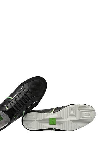 Sneakers aus Glatt- und Veloursleder: ´Victoire LA`, Anthrazit