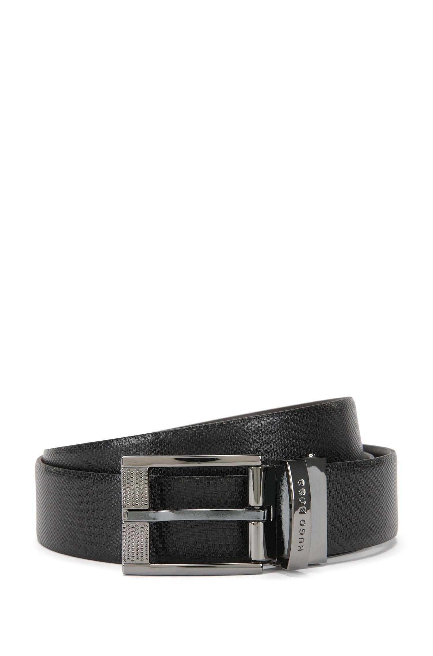 Cinturón reversible en piel de primera calidad