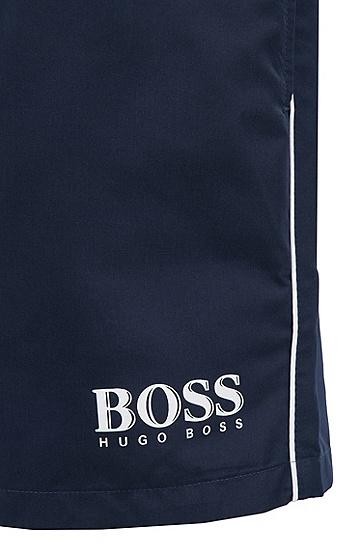 饰以logo细节的拉绳泳裤,  413_海军蓝色