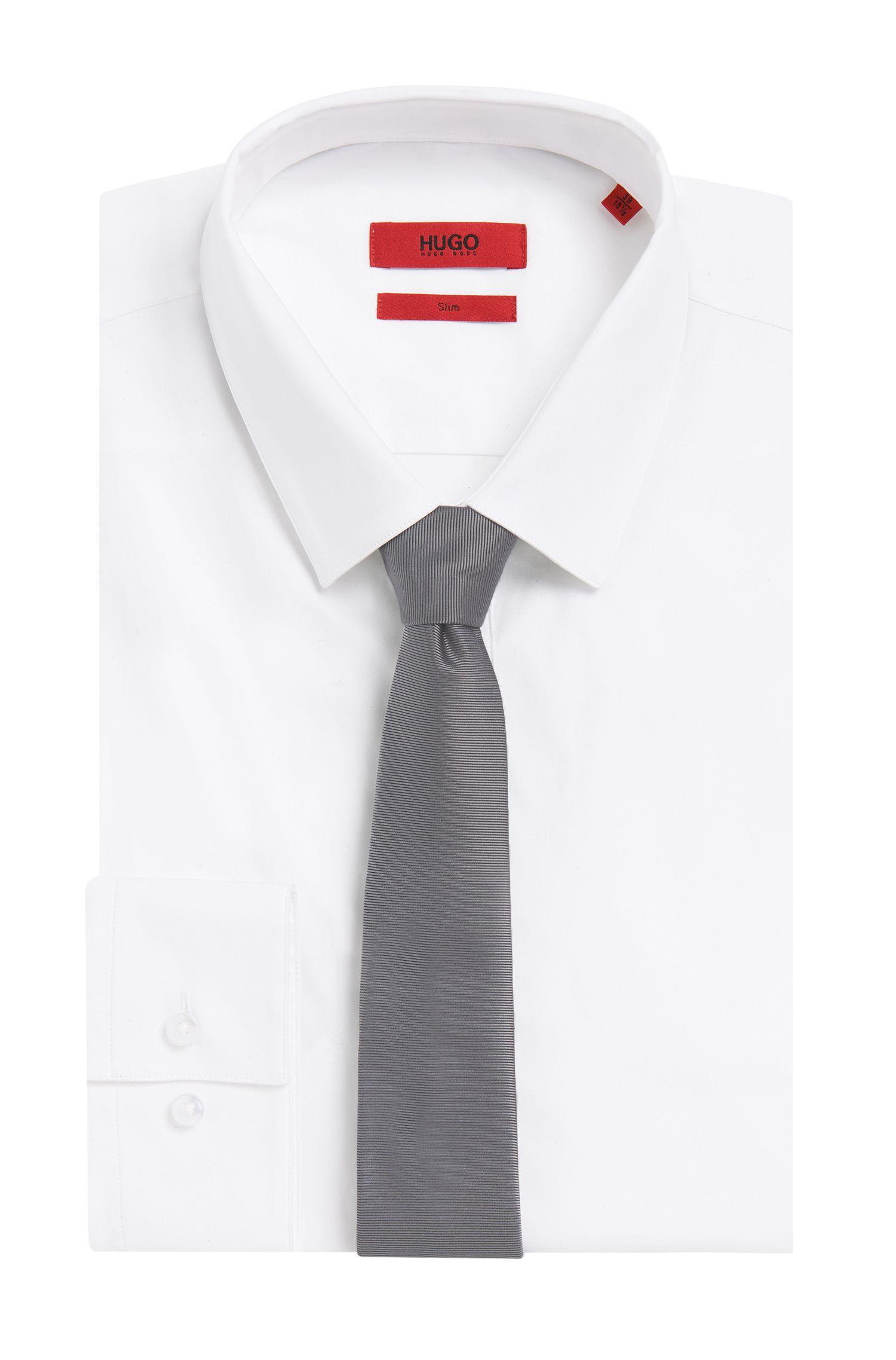 Cravate en soie étroite finement côtelée: «Tie6cm»
