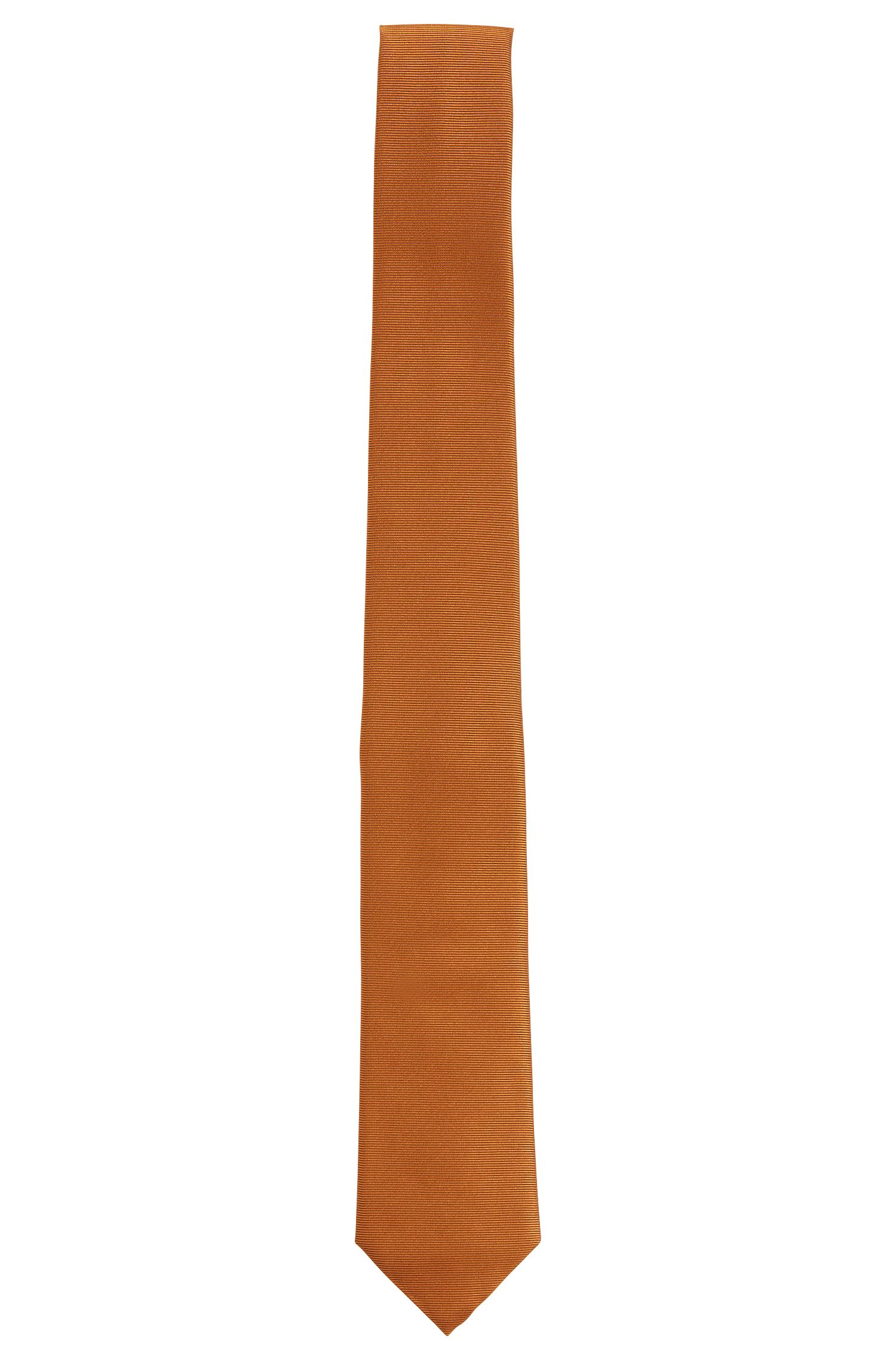 Narrow, finely ribbed silk tie: 'Tie 6 cm'