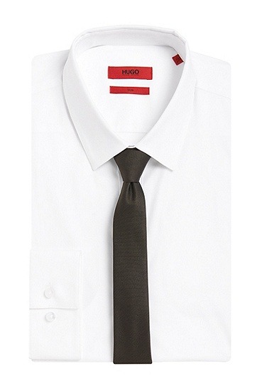 Krawatte aus Seide: 'TIE CM 4,5', Dunkelgrün