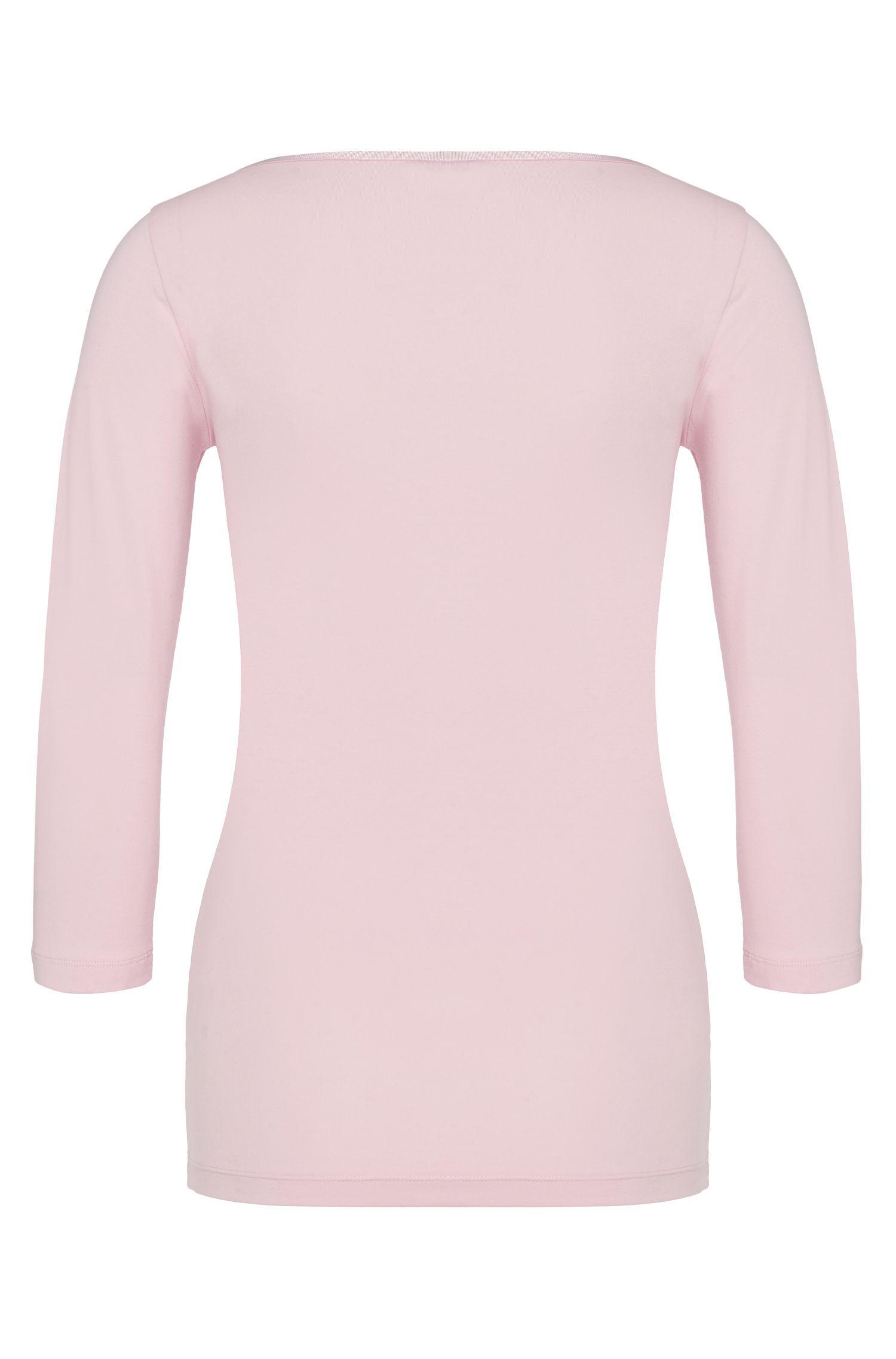 T-shirt uni en coton stretch: «Dannala»