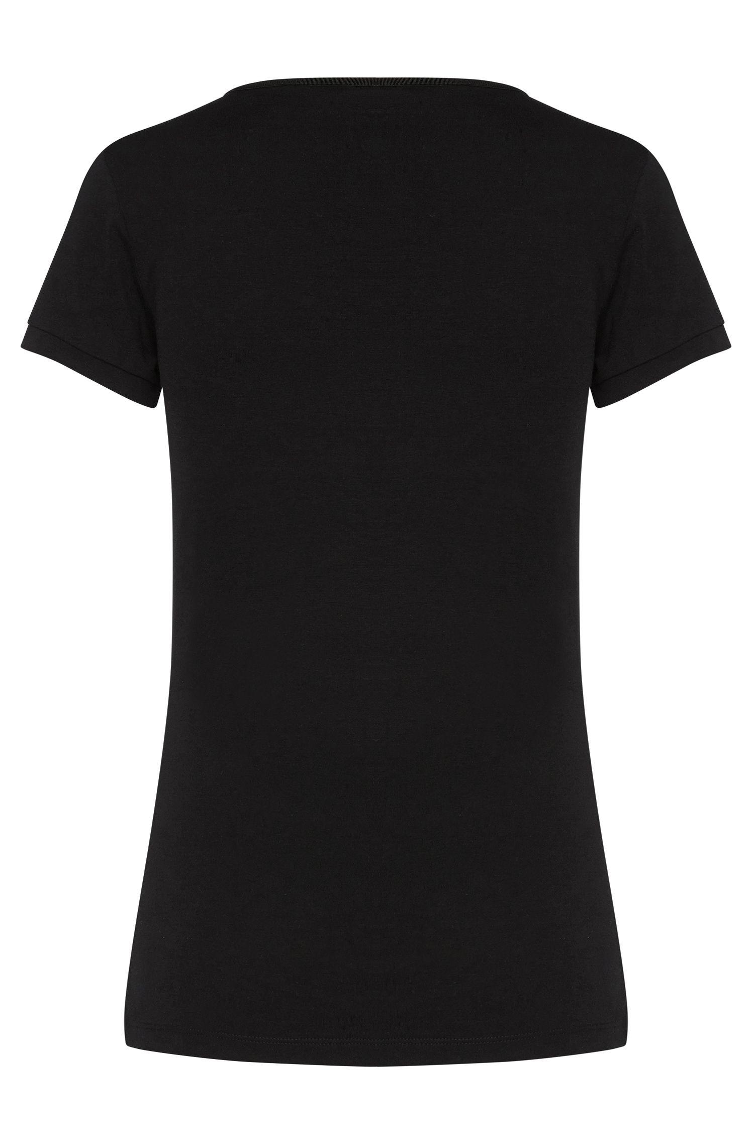 T-shirt Slim Fit en coton stretch: «Debana»