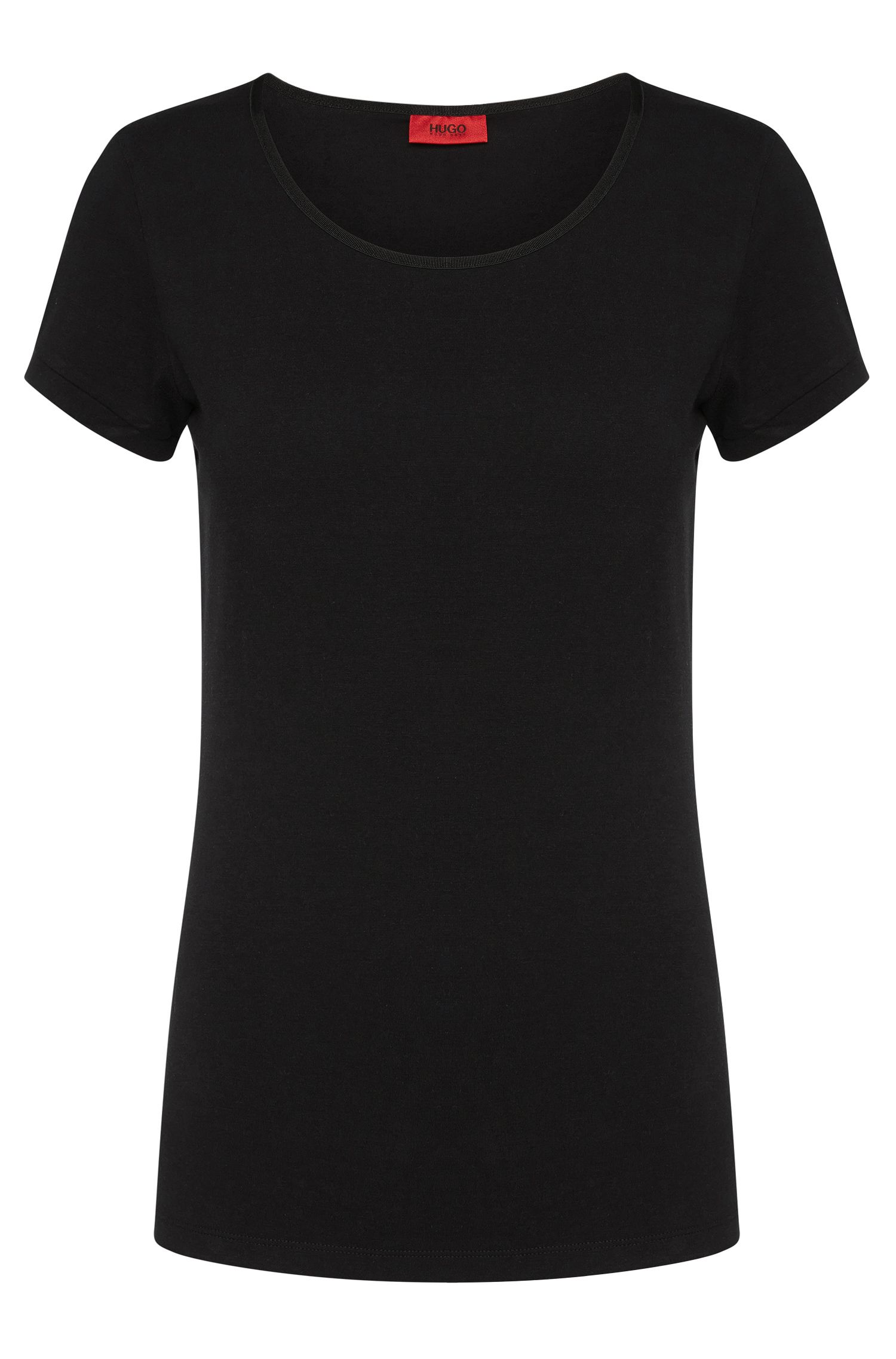 Slim fit t-shirt in stretch cotton: 'Debana'