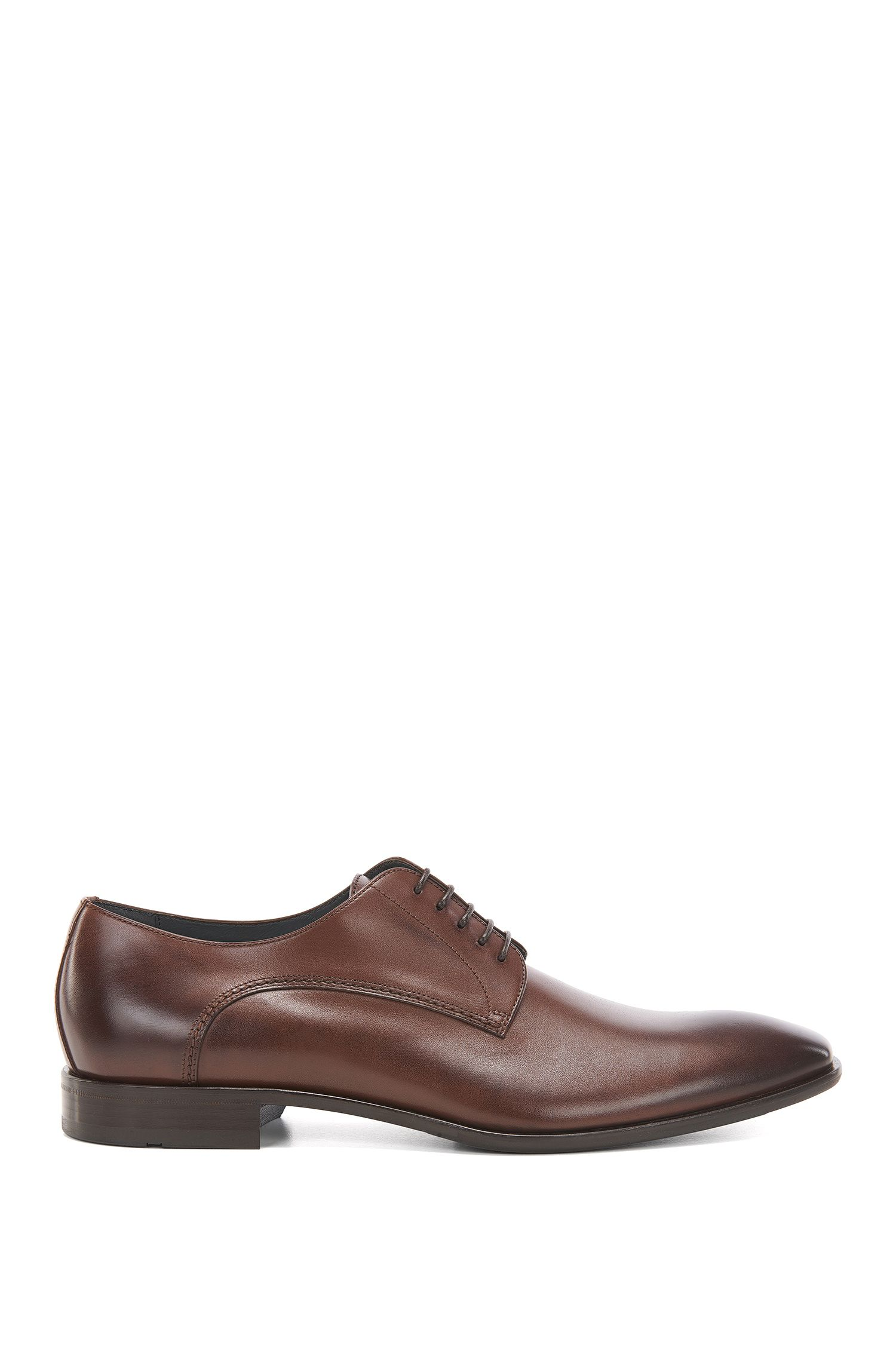 Scarpe Oxford di pelle con finitura anticata by BOSS Uomo