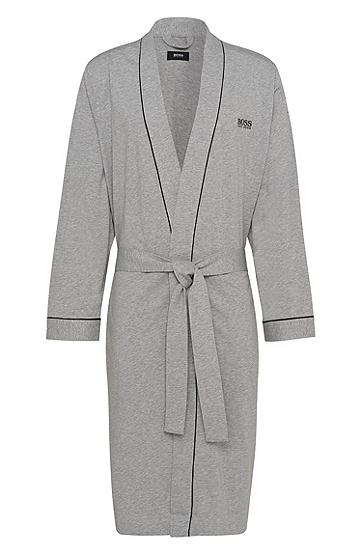 Morgenmantel aus Baumwolle: 'Kimono', Grau