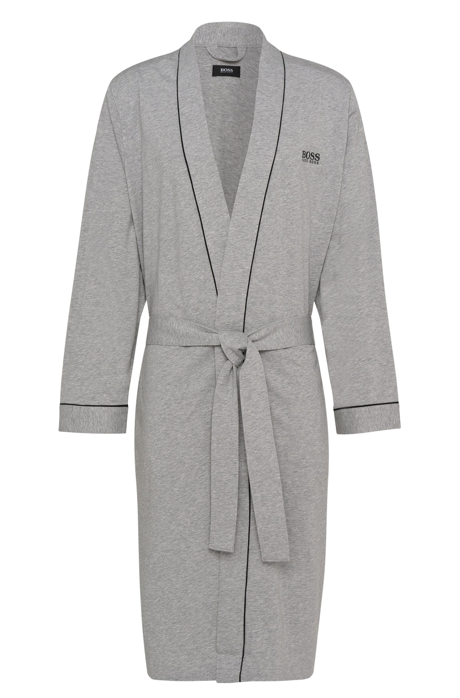 Cotton dressing gown with contrast piping by BOSS Menswear