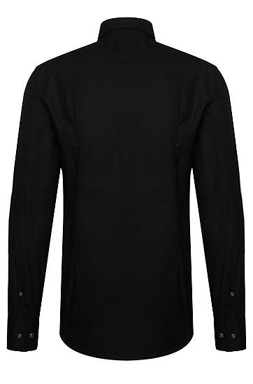 Chemise Slim Fit en coton: «Jenno», Noir
