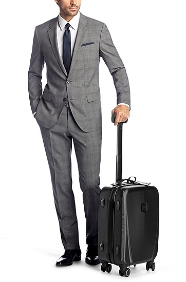 Hard-shell suitcase with 4 wheels 'Arturs', Black