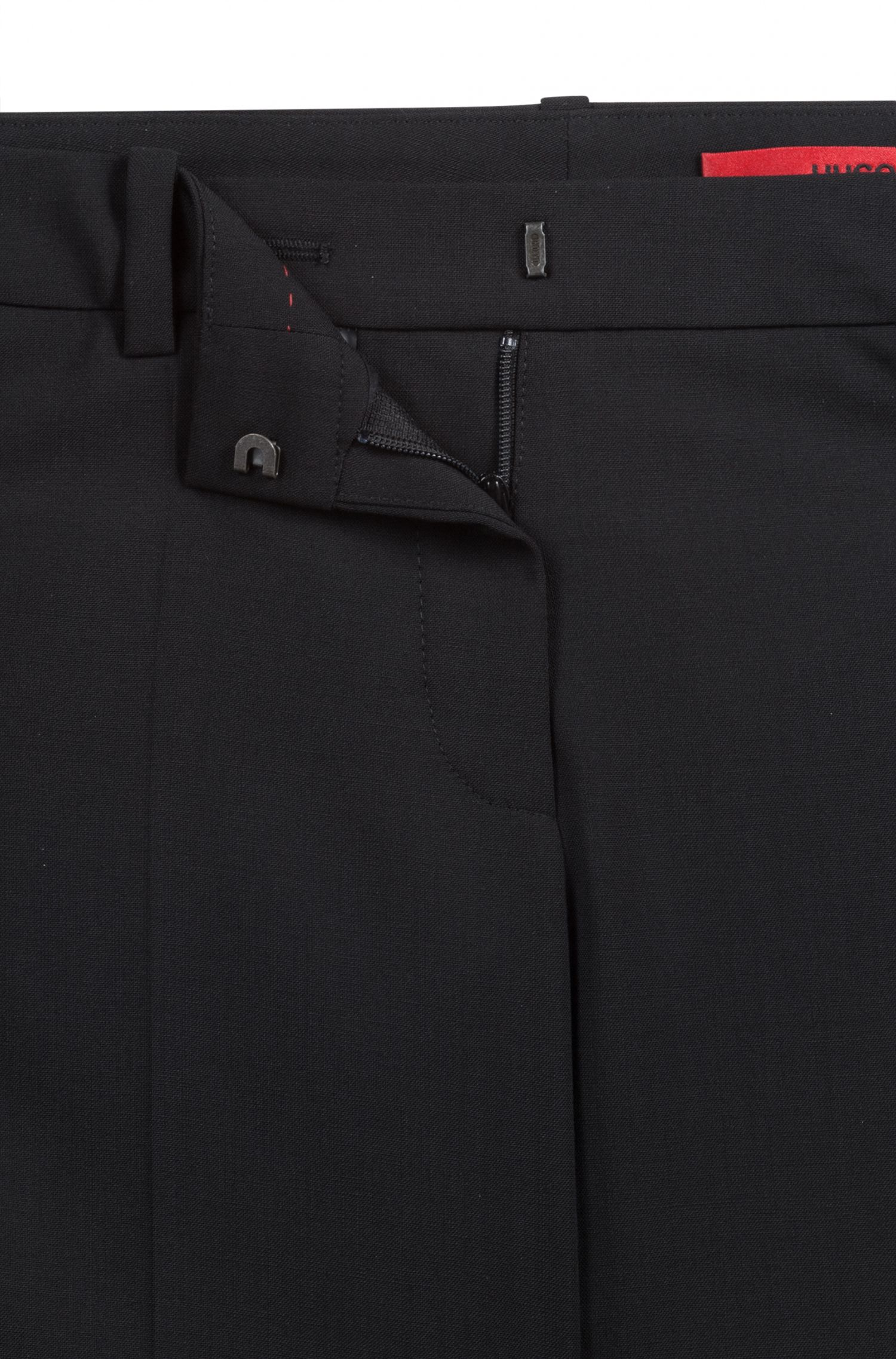 Unifarbene Bügelfaltenhose aus Stretch-Schurwolle: 'Hinass-5'