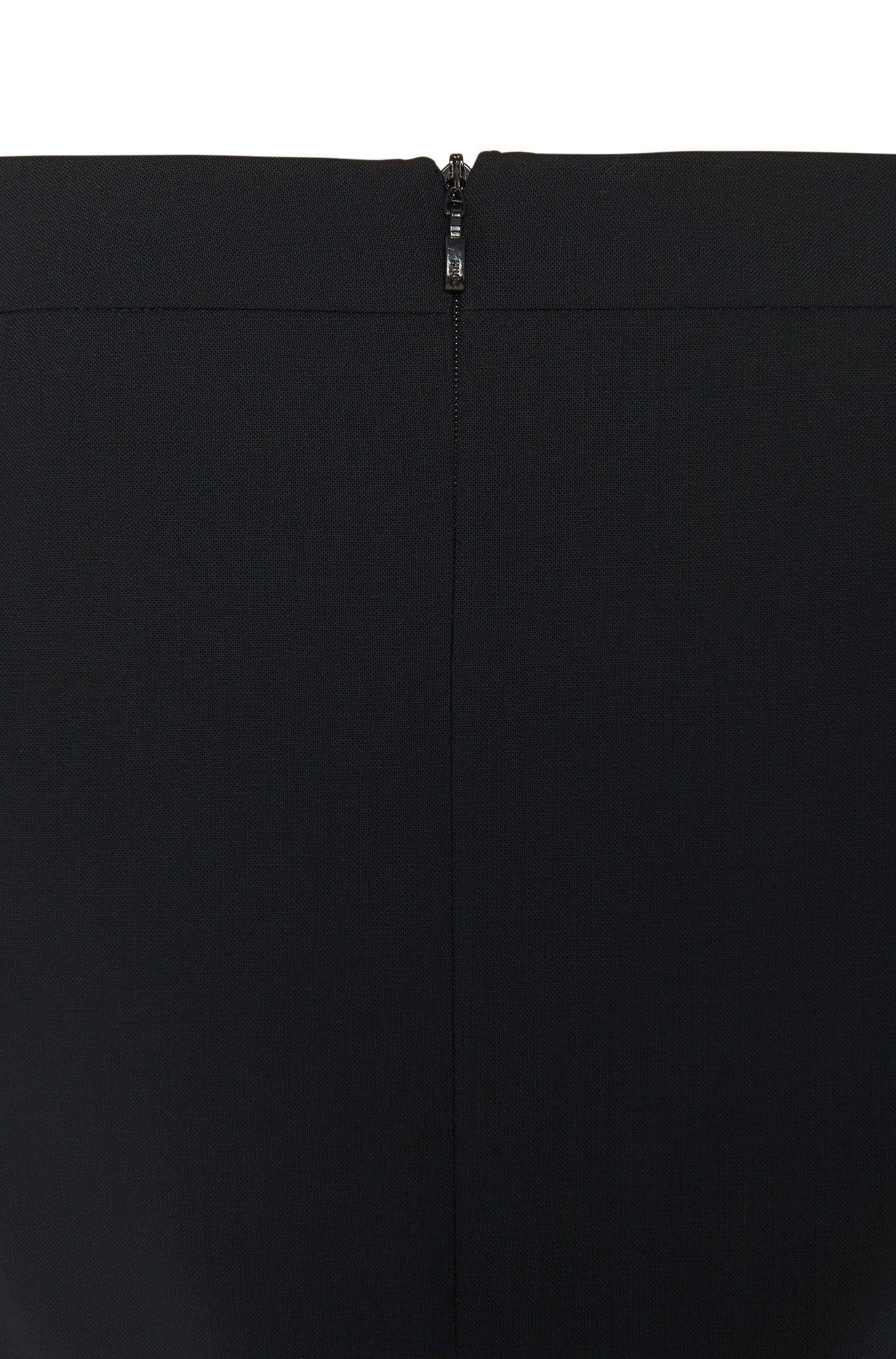 Slim-Fit Rock aus Stretch-Schurwolle: 'Rova-1'